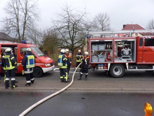 Einsatz Gas im Gebäude